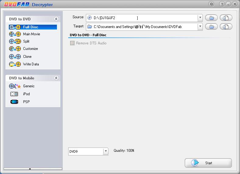 DVDFab HD Decrypter 9.2.3.1 - ダウンロード